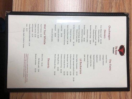 Mount Gilead, OH: menu