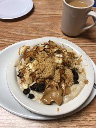 Mount Gilead, OH: my oatmeal with the peanut butter glob at the bottom!!!!