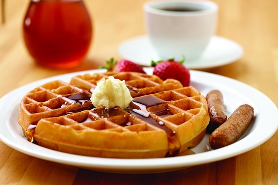 You'll love our complimentary waffle and breakfast bar. With something for everyone!
