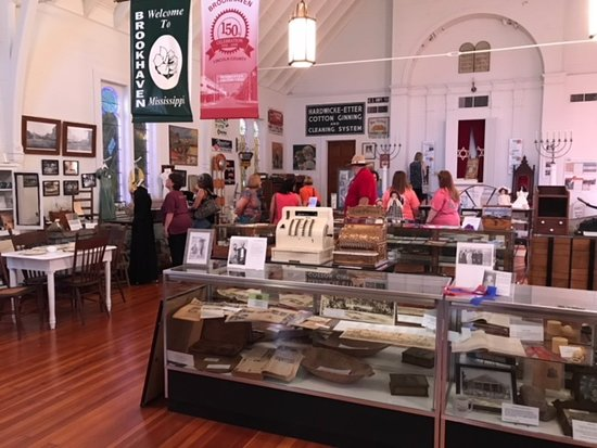 Brookhaven, MS: Visitors look at displays inside the museum, which was once a Jewish synagogue.