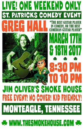 Monteagle, TN: Greg Hall a regular at the Smoke House. Live Music every Friday and Saturday night.