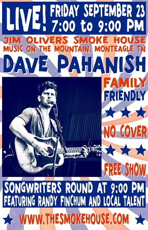 Monteagle, TN: Live Music every Friday & Saturday at Jim Oliver's Smoke House.