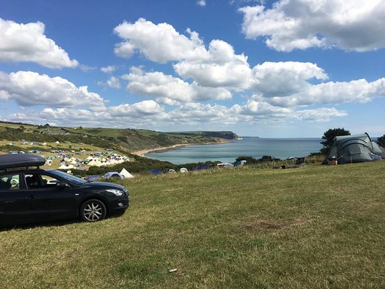 Osmington Mills, UK: View from the point field, August 2017