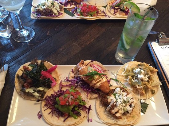 Lunitas flight of tacos in Lower Gibsons, BC