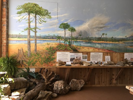 Greybull, WY: The museum features a 40 foot mural depicting the landscape, flora, and fauna of the Bighorn Bas
