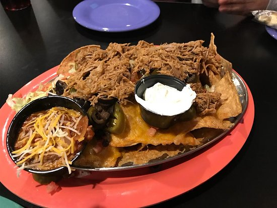 Greenfield, MA: Nachos with pulled pork