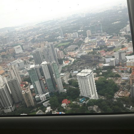 Atmosphere 360 Revolving Restaurant : Top of the world. Watching the Kl skyline