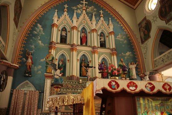 St. Thomas Forane Church: Close up of the Altar new church