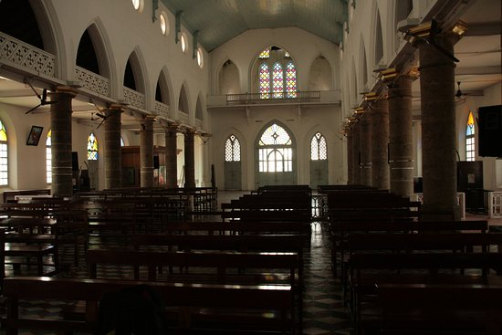 St. Thomas Forane Church: View facing the entrance and the congregating area