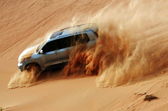 Evening Desert Safari with Dune Bashing, Camel Riding, BBQ Dinner