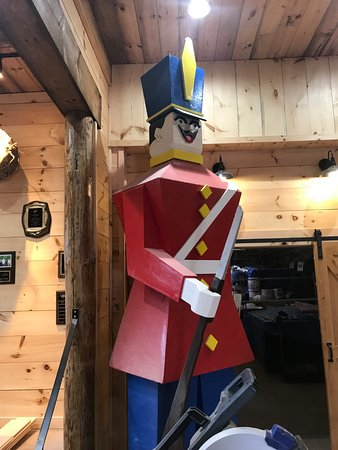 Hudson, NH: One of the wooden soldiers.