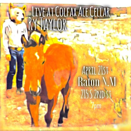 Raton, Нью-Мексико: 7pm April 21 Ry Taylor LIVE No Cover!