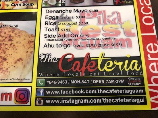 The Cafeteria, Tamuning - Restaurant Reviews, Phone Number ...