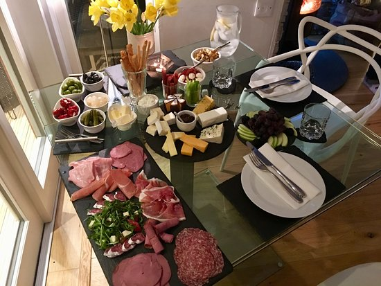 Dulnain Bridge, UK: that delicious charcuterie spread