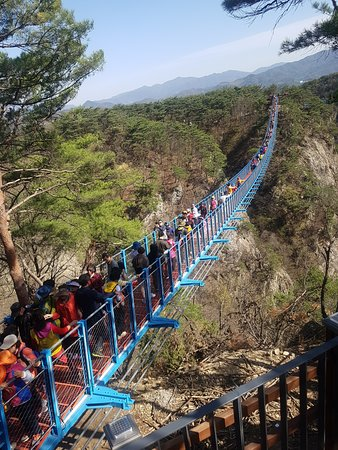 Mount Sogeum Swinging Bridge