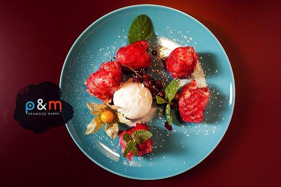 Delicious Desserts at Pramogu Namai