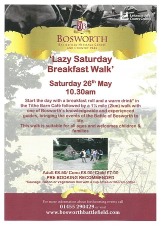 Bosworth Battlefield Heritage Centre and Country Park: Lazy Saturday Breakfast Walk
