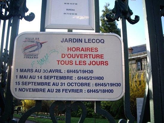 Horaire Photo De Jardin Lecoq Clermont Ferrand Tripadvisor