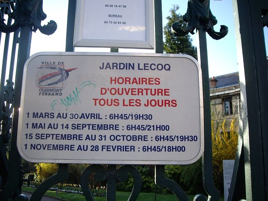 Horaire picture of jardin lecoq clermont ferrand tripadvisor
