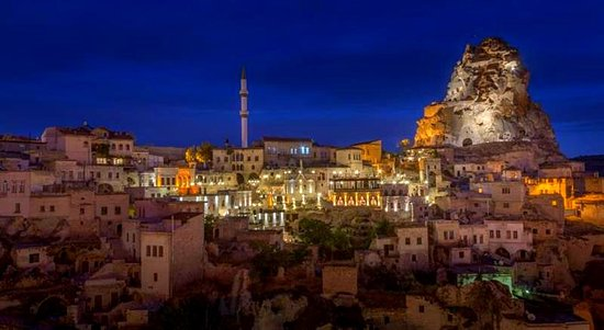 Ortahisar, Turkey: The night view from Elaa Terrace