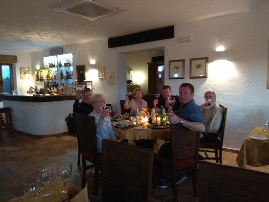 Turre, Spanyol: Cheers to La Finca Listonero. Sandra, Ian and Malcolm.