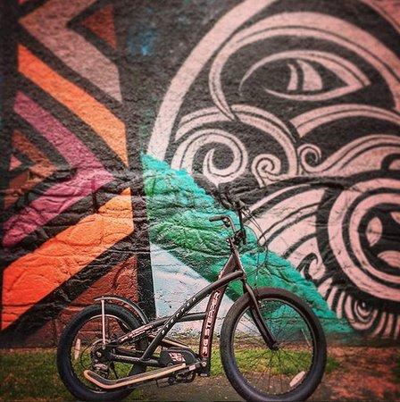 3G stepper bike and street art in Ngaruawahia