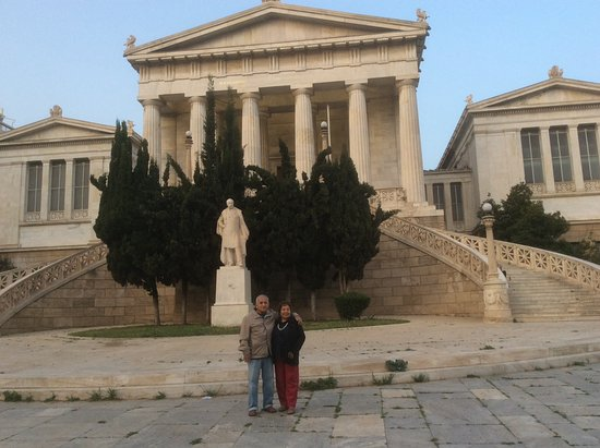 Greece Athens Day Tours: Parents in one of the many iconic sites of Athens