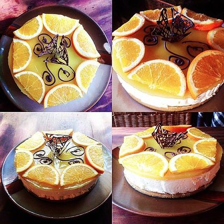 Mzuzu, Malaui: orange cheesecake