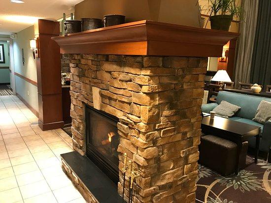 Staybridge Suites Eagan-Mall Of America: Cozy Fireplace