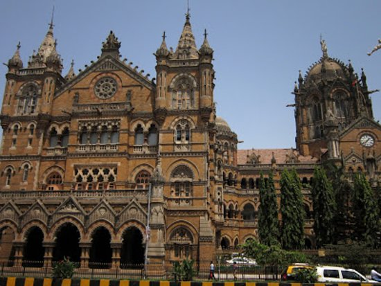 Chhatrapati Shivaji Terminus: view from the street