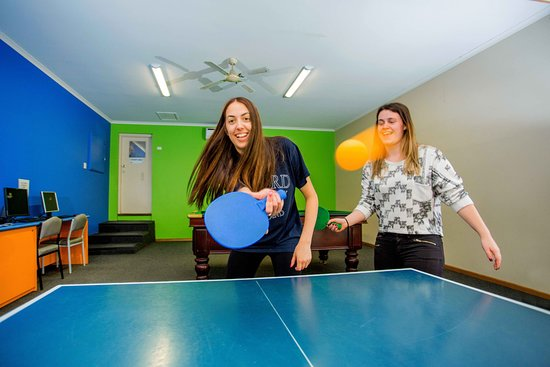 Table Tennis in the Games Room