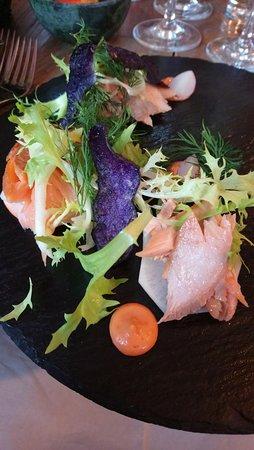 Snekkersten, Denmark: Flot servering - islandsk vildlaks