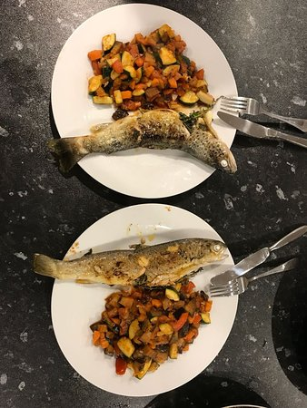 Bonnyrigg, UK: pan-fried trout