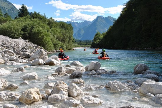 Enjoy stunning Soča scenery and lear to kayak, Bovec.