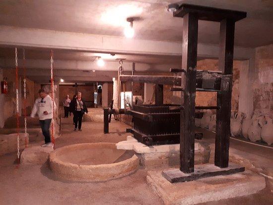 Amphitheater Pula: Oliepresse i museet under arena