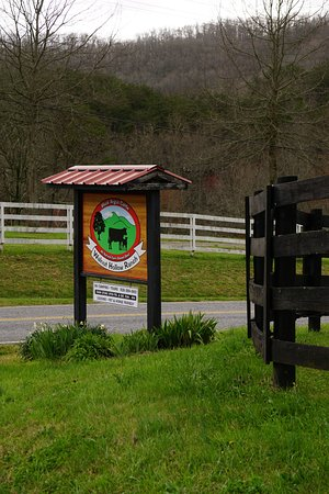 Walnut Hollow Ranch: Entrance sign on Carter Cove Rd