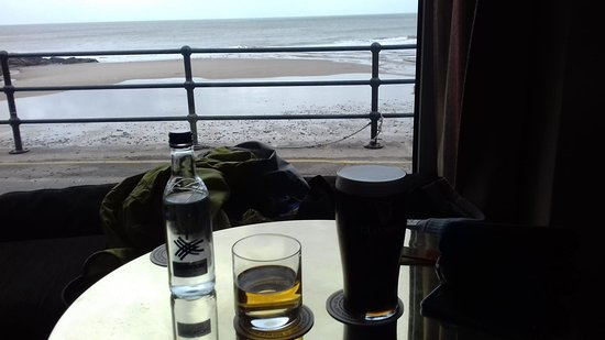 Llangrannog, UK: This view is from the bar
