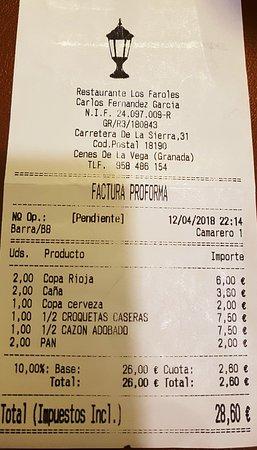 Cenes de La Vega, Spagna: Factura