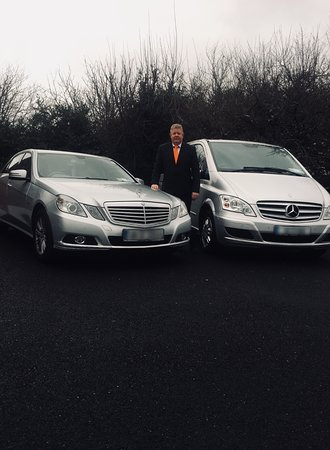 Mullingar, Irlanda: Frank Hughes with two of our luxury chauffeur vehicles.