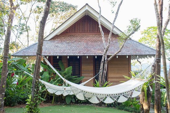 Islas Secas, Panama: Hammocks invite guests to stay and rest at Casita Sombra, one of our two-bedroom sites.