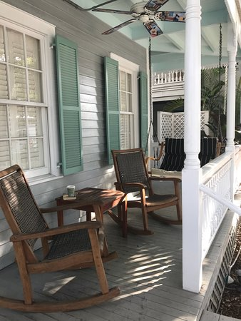 Eden House: Favorite spot to enjoy coffee and read the morning paper