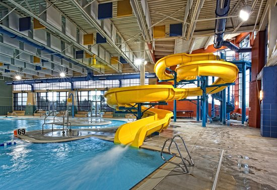 Pinedale, WY: Heated leisure pool which includes water slide, lazy river, as well as many water features.