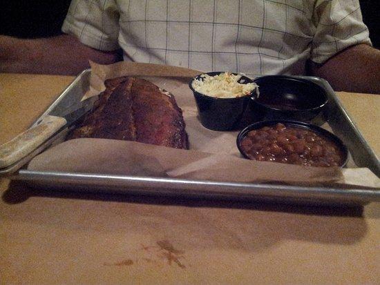Farmville, VA: Pork ribs, baked beans, coleslaw