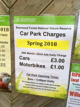Nottinghamshire, UK: Car Parking Charges