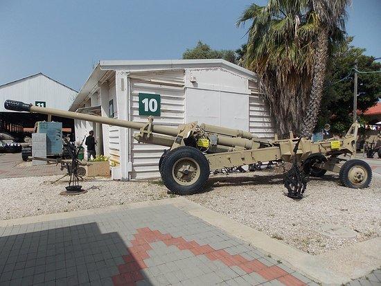 Israel Defense Forces History Museum: Cañón de largo alcance