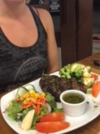 Aguacate, Costa Rica: Ribeye grilled to perfection!
