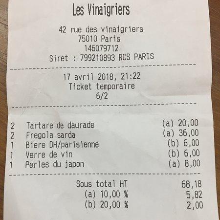 Restaurant les vinaigriers dans paris avec cuisine fran aise - Restaurant rue des vinaigriers ...