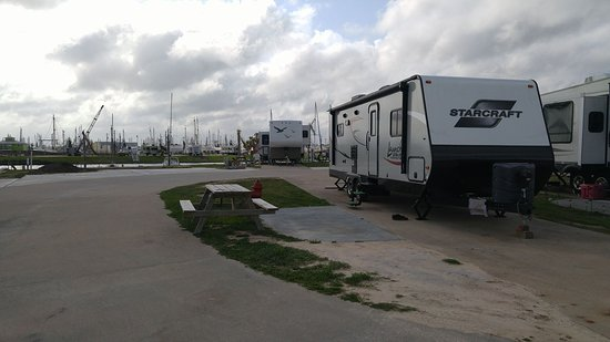 Palacios, TX: RV Site at the end of the row - best views.