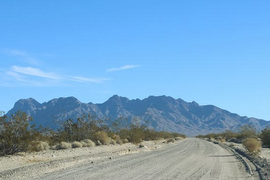 Mojave National Preserve: Kelso Dunes Road, Providence Mountains in Background