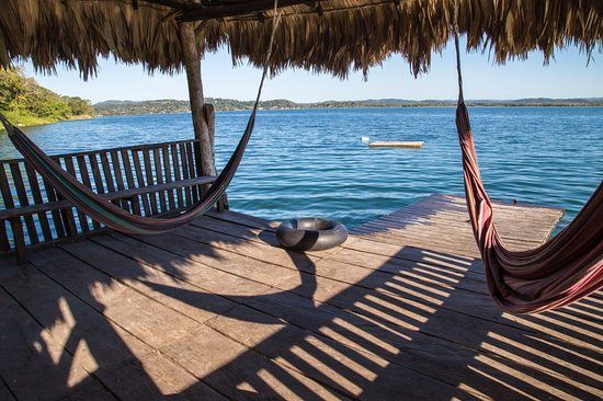 El Remate, Guatemala: The lake Peten Itza, from one of our docks.
